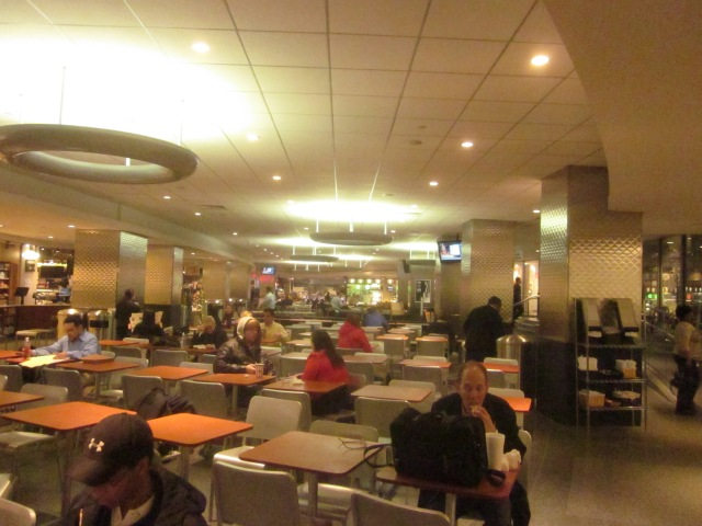 Comcast Center food court, in the underground concourse