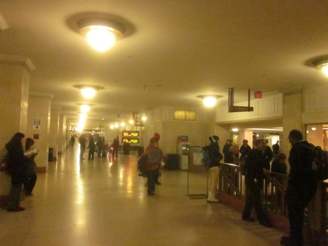 Suburban Station concourse leads to the regional rail and other major buildings