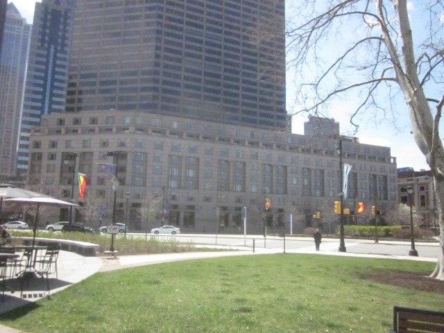 Current Four Seasons Hotel on the Parkway, as seen from Sister Cities Park