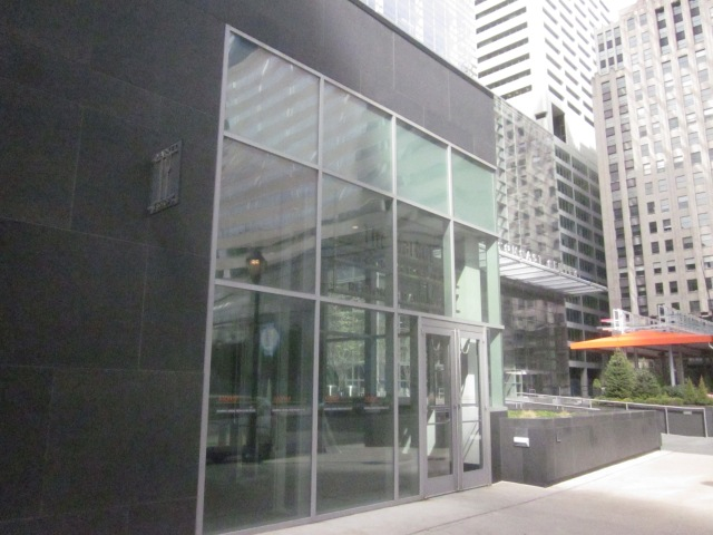 Entrance to the underground concourse of the Comcast Center, at 18th and JFK