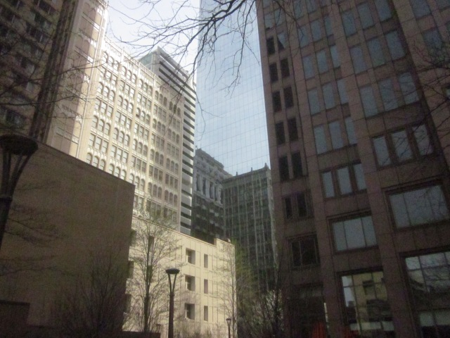 Robert Morris building, and its reflection in the Comcast Center, a block from the future CITC