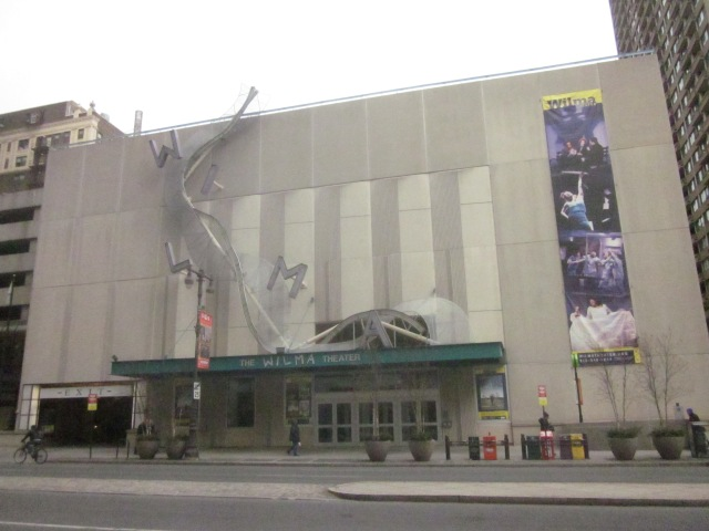 Wilma Theater is across Spruce Street from the future SLS International Hotel and Residences