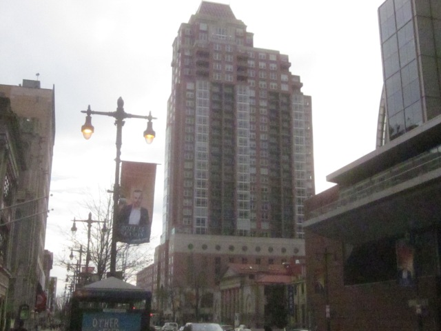 Symphony House Condominiums and Suzanne Roberts Theater, a block south on Broad from future SLS International Hotel and Residences