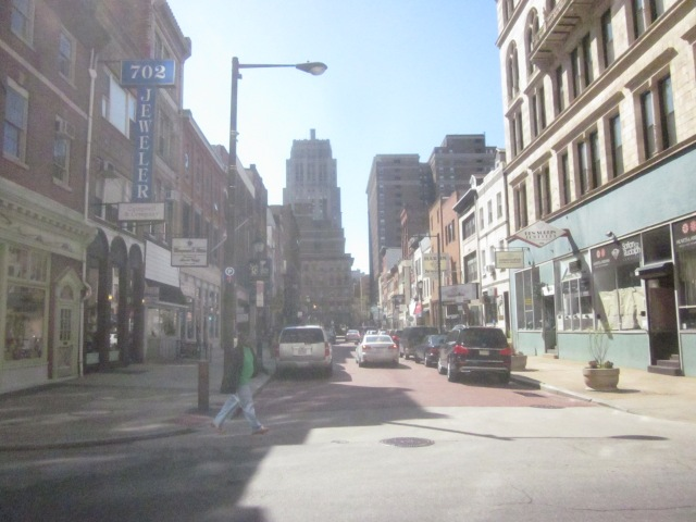 Jewelers Row, on the 700 block of Sansom Street, is a couple blocks south of the Mellon Independence Center