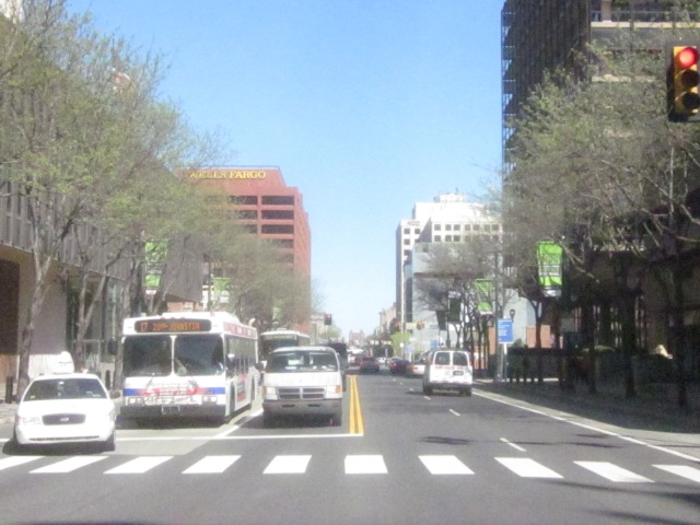 Looking east on Market Street, towards the Independence Mall and Old City