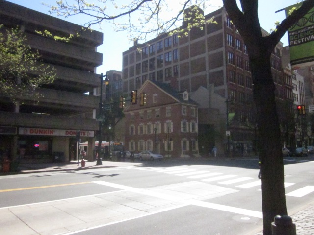 Declaration House, or the Graff House, is a recreation of the house where Thomas Jefferson wrote the Declaration of Independence, at 7th and Market Streets