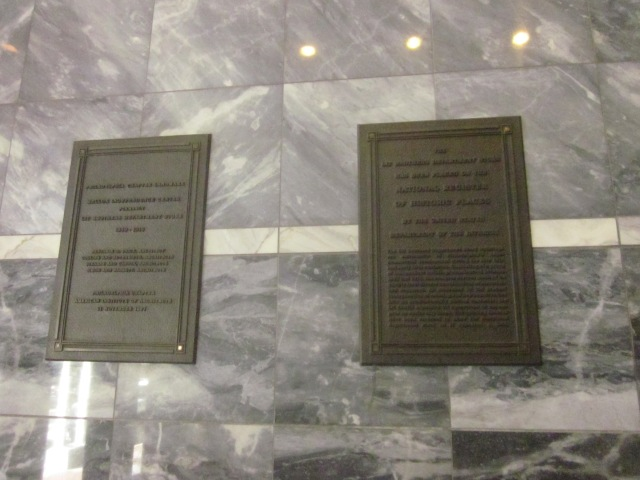Historic plaques in the entrance of the Mellon Independence Center