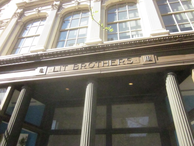 Inscription on facade on Market Street reminds passersby of the history of the Mellon Independence Center