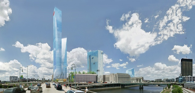 Rendering of the future FMC Tower at Cira Centre South