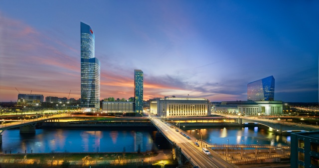 Rendering of Cira Centre South at night
