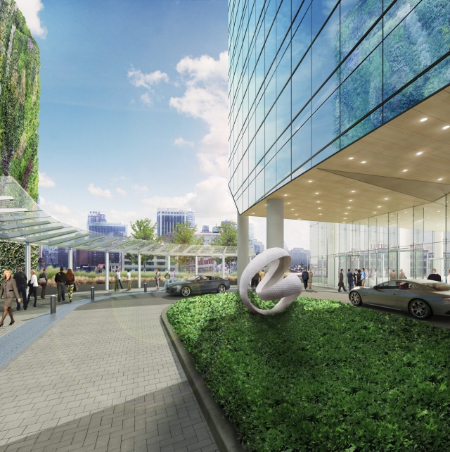 Rendering of the entrance to the new FMC Tower