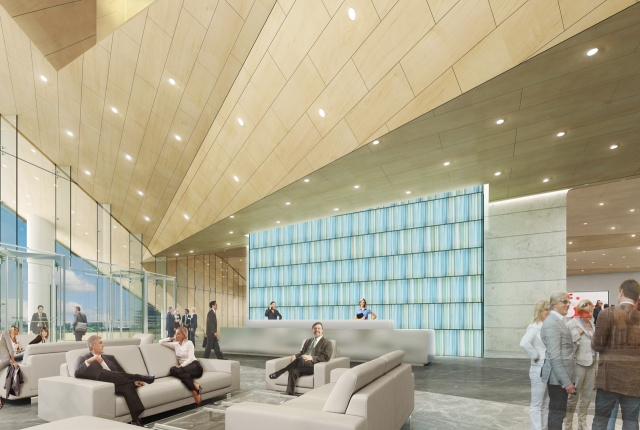 Rendering inside lobby of new FMC Tower