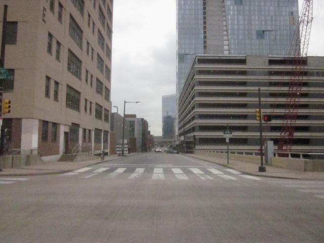 Looking north up 30th Street towards original Cira Centre