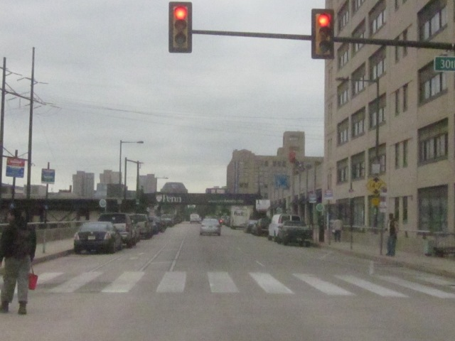 Looking west on Walnut Street into University City
