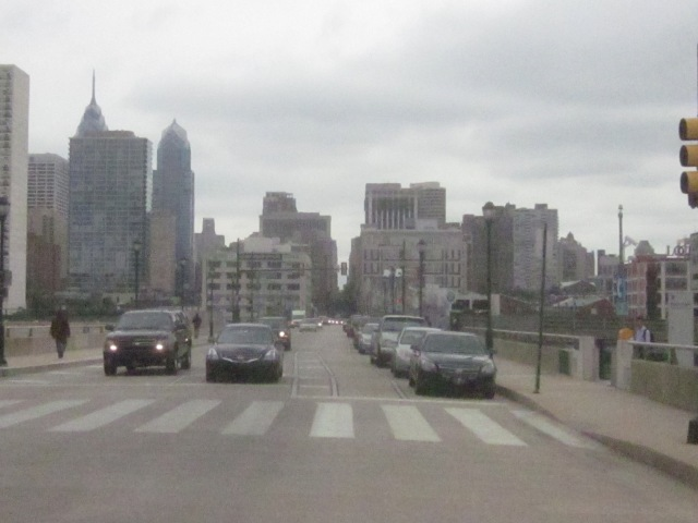 Looking east on Walnut Street towards Center City
