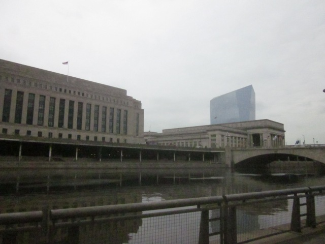 Former 30th Street Post Office (IRS Building), 30th Street Station, and Cira Centre, above Schuylkill Expressway