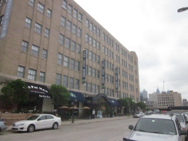 Left Bank Apartments is west of future FMC Tower on Walnut Street
